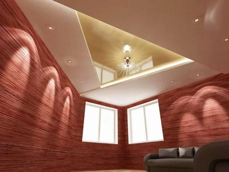 Виды потолков: какие бывают потолочные конструкции, видео-инструкция по монтажу своими руками, фото