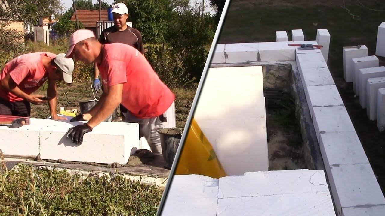 Как класть пеноблок на фундамент своими руками, чтобы здание не рухнуло