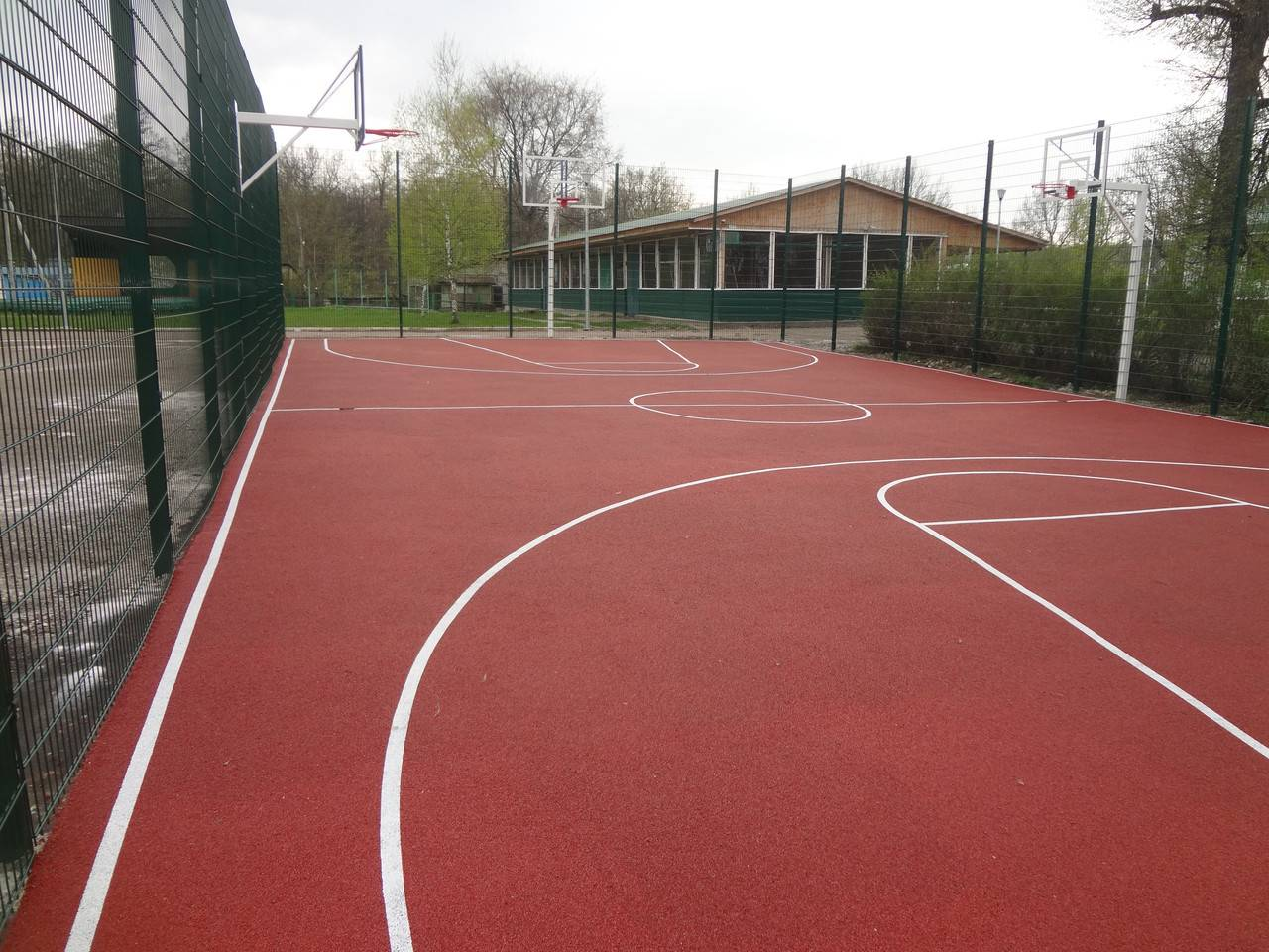 Детский сад покрытия площадки.