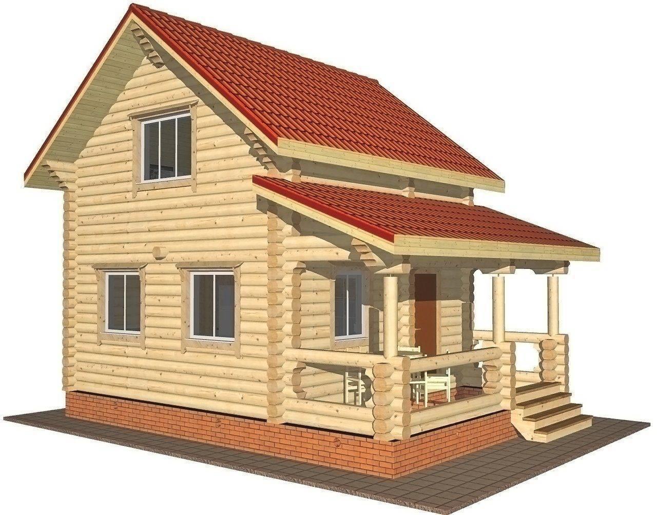 Проекты деревянных домов с мансардой (46 фото): конструкция деревенского дома из бревна с эркером, дача из дерева с верандой