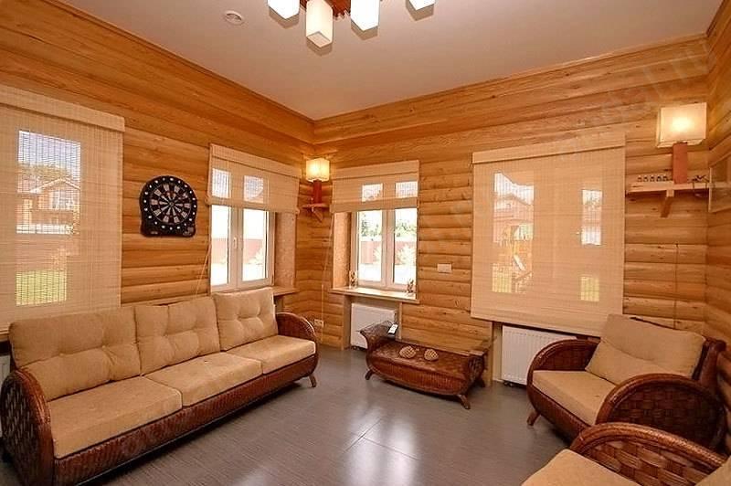 Блок хаус имитация бруса (38 фото): плюсы дизайна под бревно кедра для внутренней отделки стен