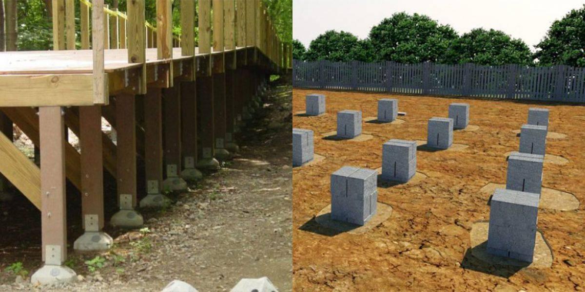 Столбчатый фундамент своими руками: виды, преимущества и недостатки. пошаговая инструкция, применение в строительстве