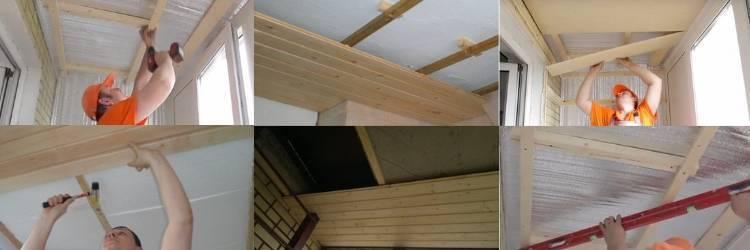 Как правильно крепить вагонку на балконный потолок и видео инструкция