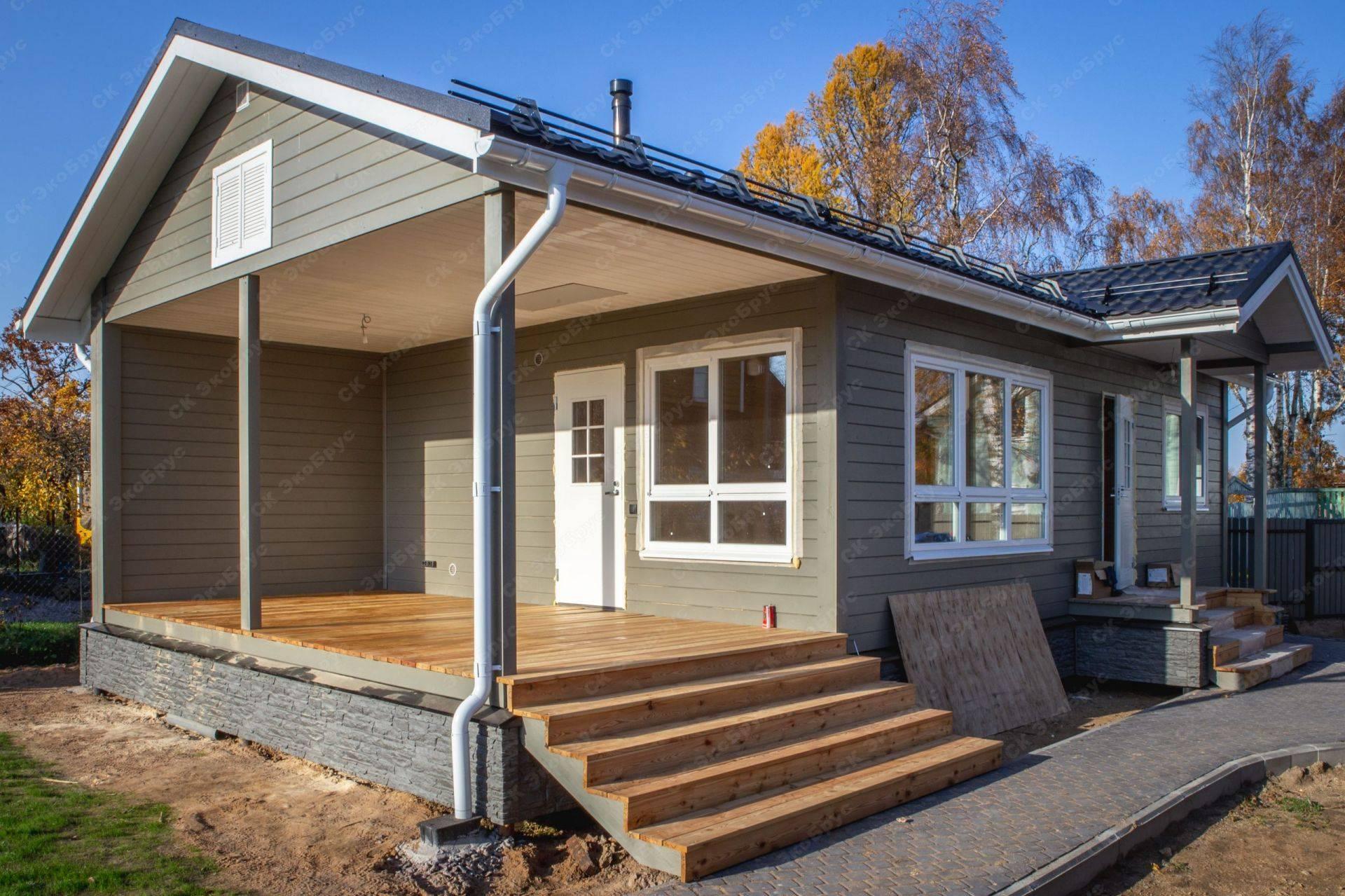 Финские дома одноэтажные из дерева и бруса: проекты