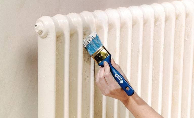 Покраска радиаторов отопления: лучшая краска, как покрасить правильно, окраска радиаторов на фото и видео примерах