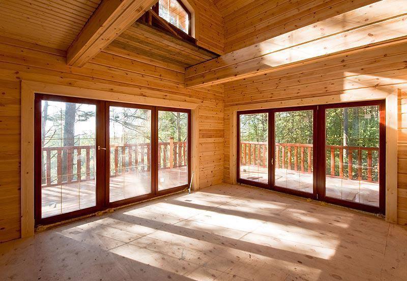 Дом с панорамными окнами: 105 фото оформления строений панорамной системой