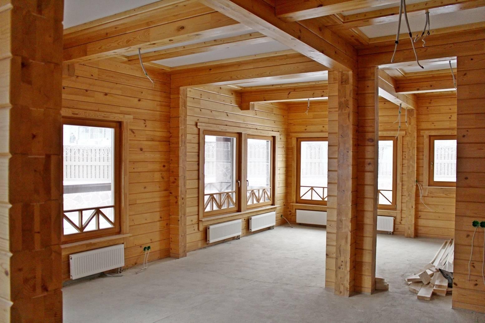 Внутренняя отделка деревянного дома: технические особенности   красная армия
