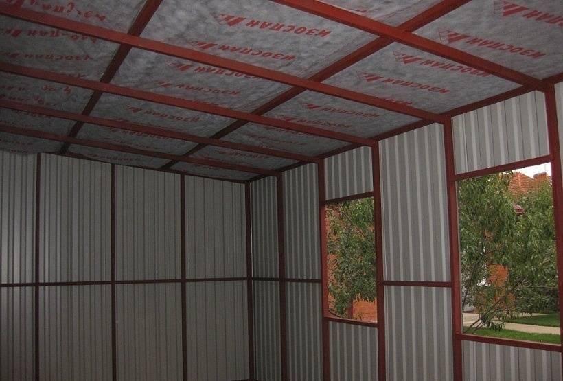 Делаем гараж из профнастила любой сложности и размера