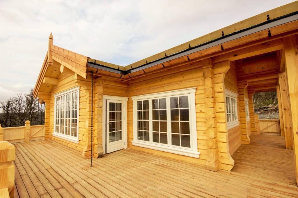 Проекты домов из лафета в норвежском стиле