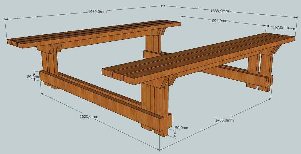 Стол для дачи своими руками: 4 модели с поэтапными фото + видео, чертежи с размерами