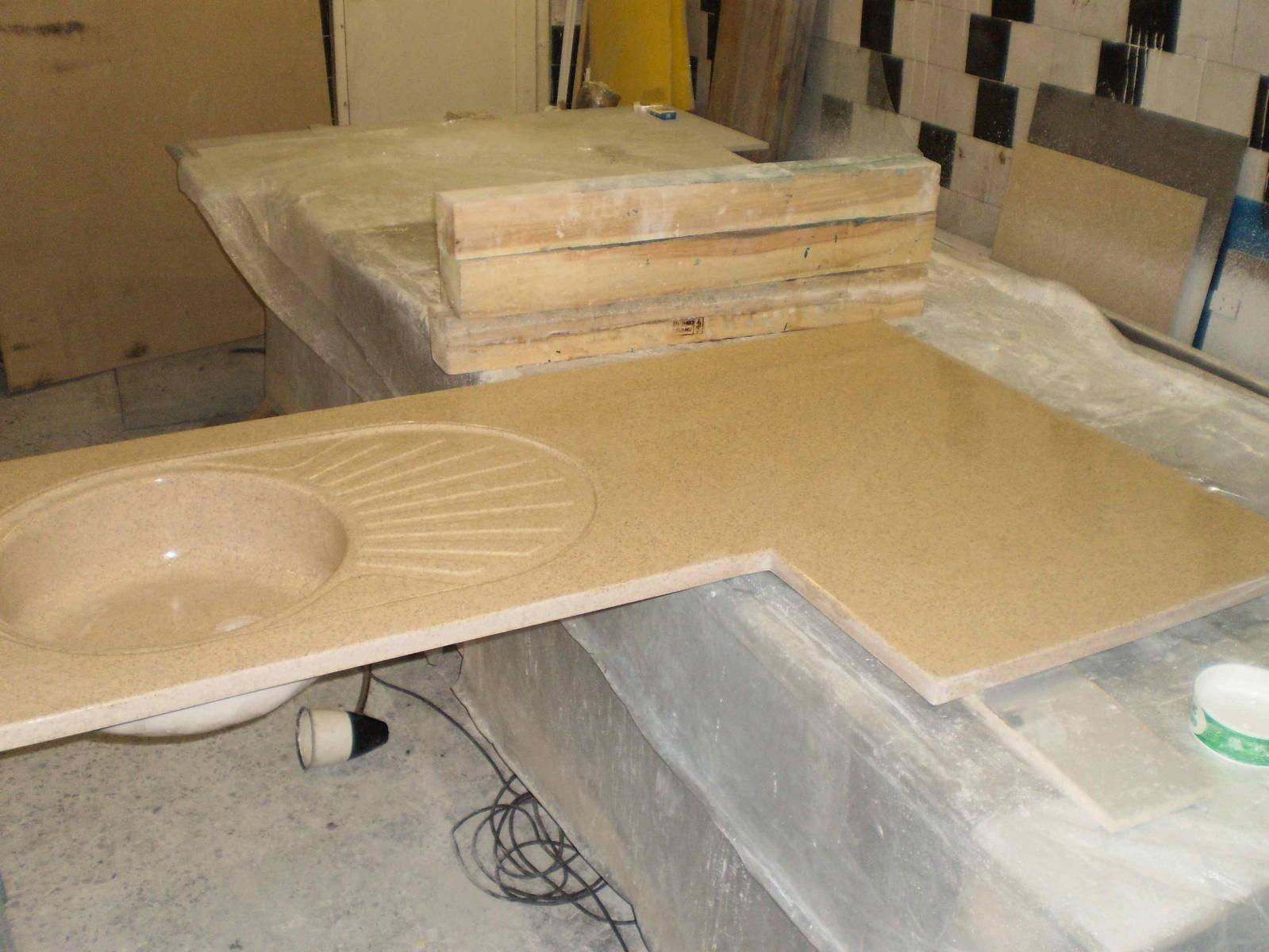 Столешница из искусственного камня своими руками - технология изготовления