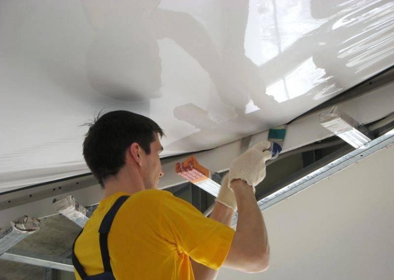 Натяжной потолок своими руками: пошаговая инструкция по монтажу!