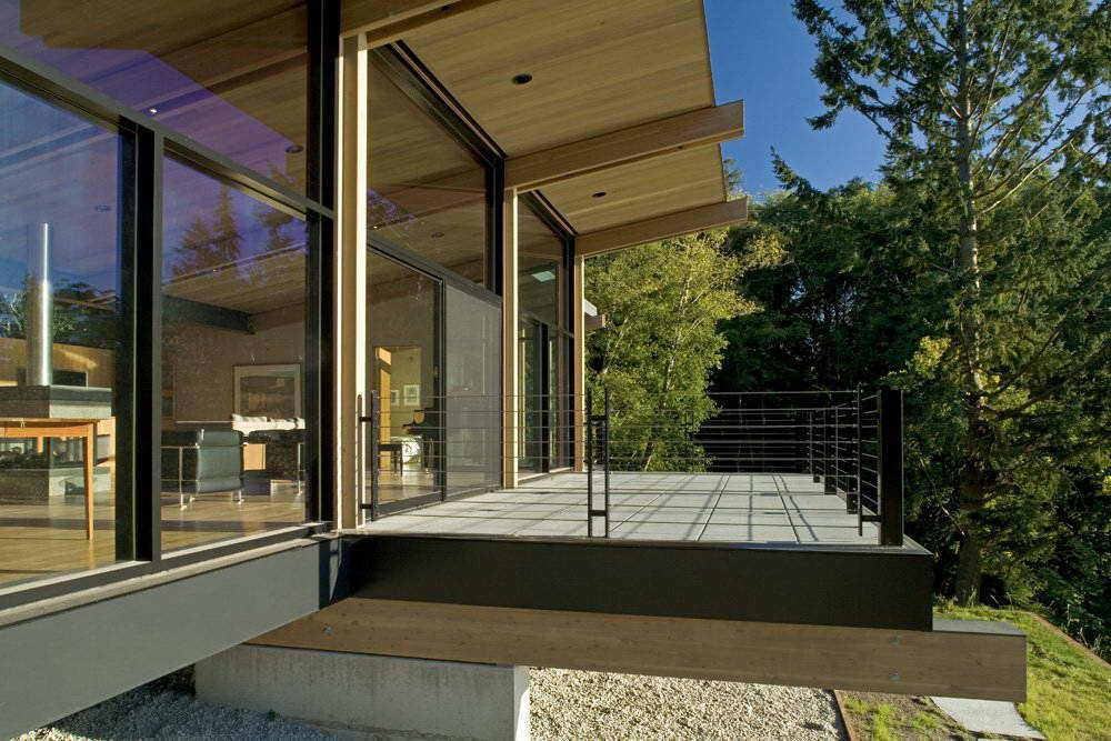 Проекты одноэтажных домов с панорамными окнами
