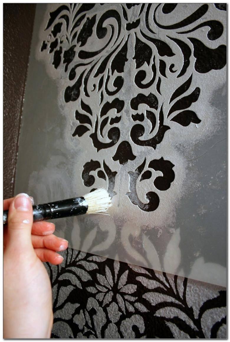 Рисунки (узоры) на потолке своими руками (9 фото)