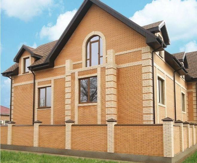 Постройка домов из кирпича цвета «солома» и «шоколад»
