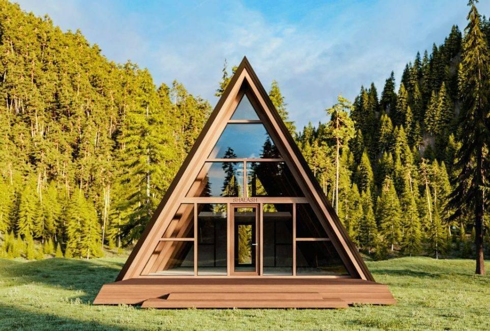 Мини-дом для круглогодичного проживания своими руками. а-образный дом