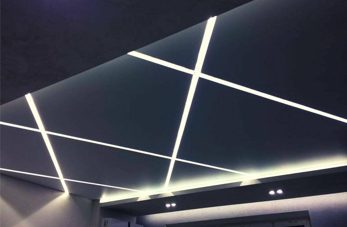 Как сделать парящий натяжной потолок с подсветкой своими руками