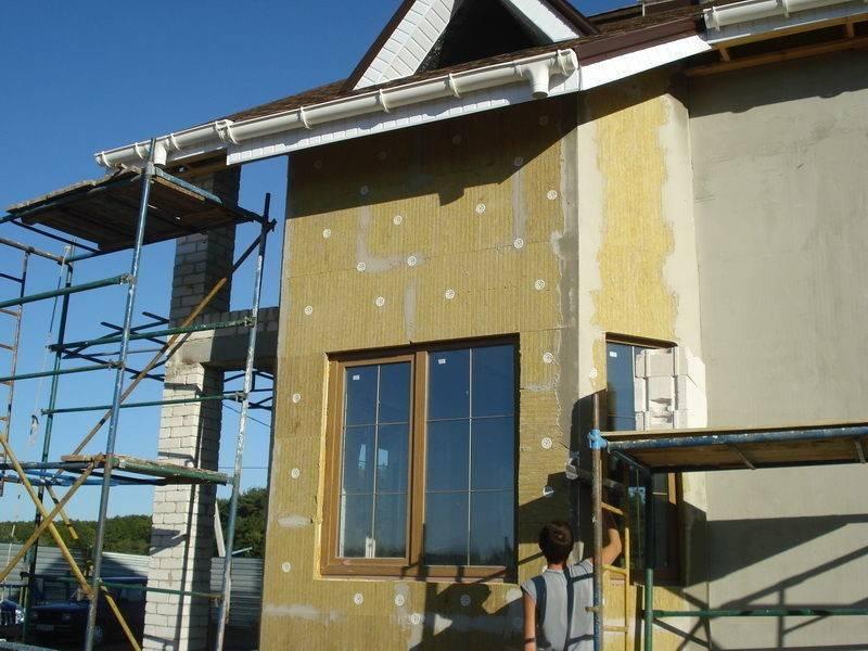 Технология утепления фасада минватой под штукатурку: каменной, базальтовой