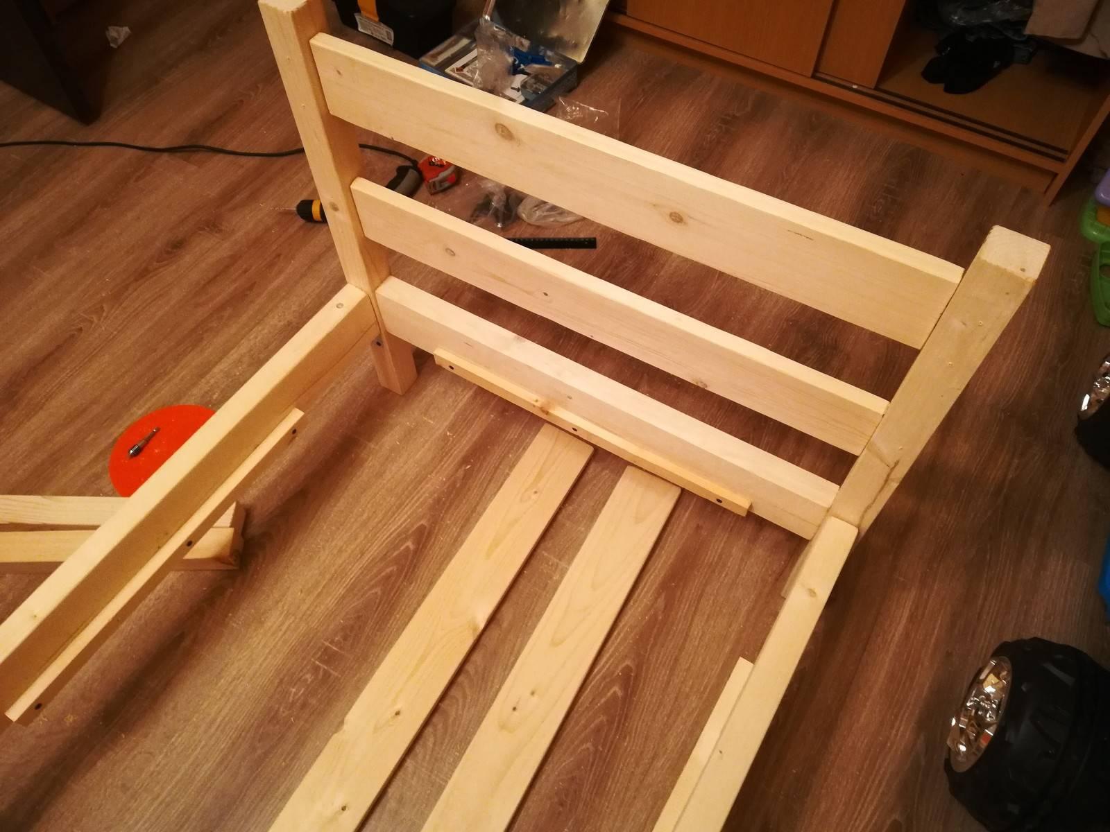 Детская кровать своими руками из дерева: как подобрать чертеж и инструменты, как изготовить элементы и сделать лучшую деревянную мебель для ребенка