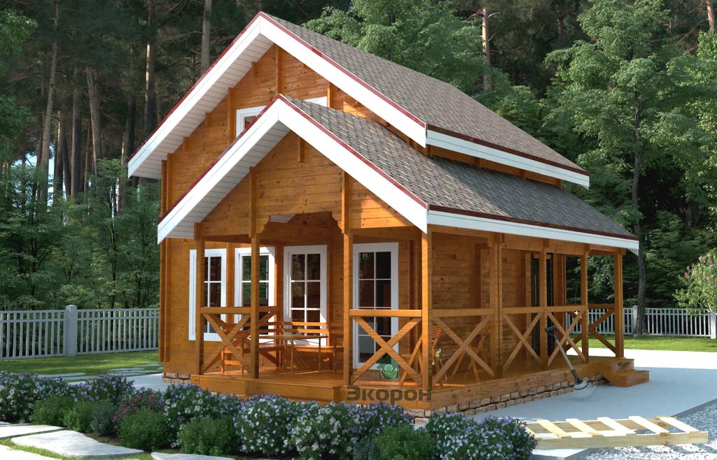 Теплый дом – что представляет собой жилье из двойного бруса?