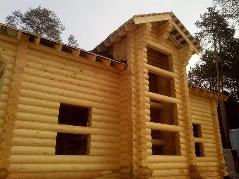 Что влияет на усадку деревянного дома