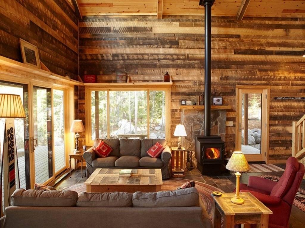 Интерьеры деревянных домов: фото внутри гостиной, кухни, спальни, мансарды