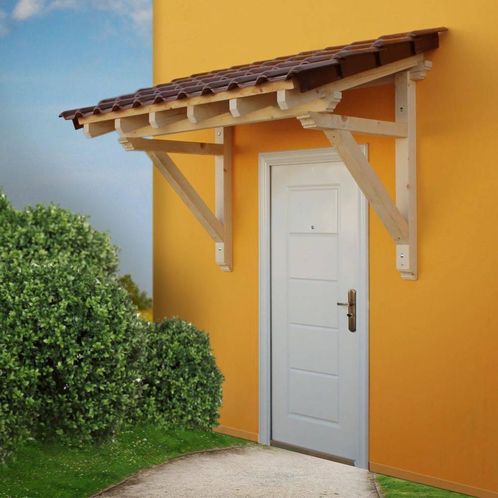 Как сделать козырек над входной дверью своими руками
