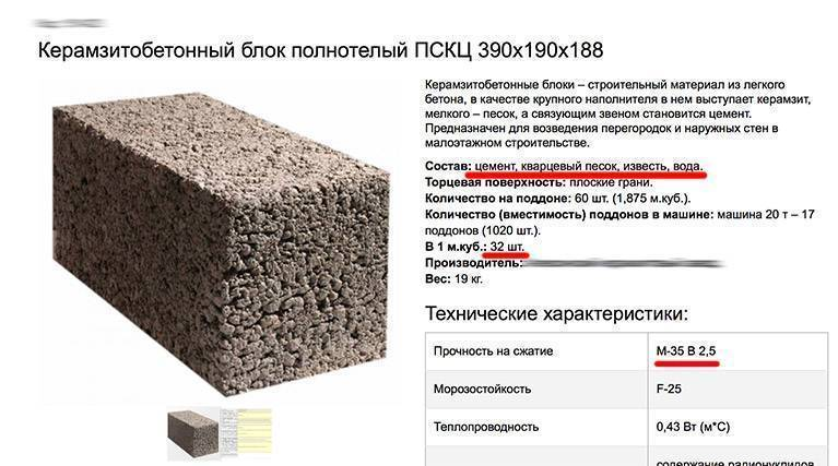Керамзитобетонные блоки: размеры, плюсы и минусы, свойства, характеристики гост