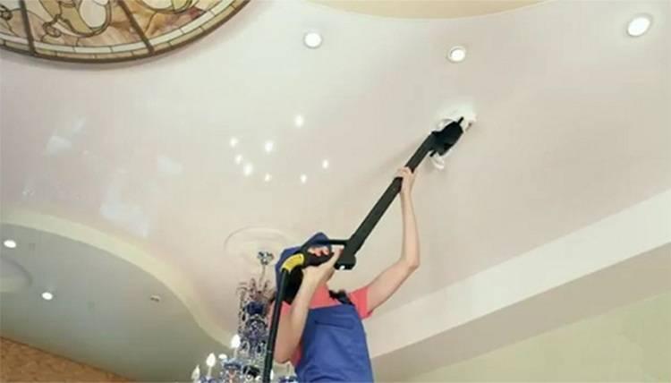 Как ухаживать за матовым и глянцевым натяжным потолком?