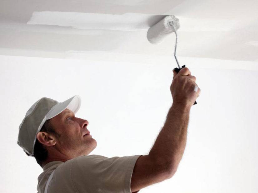 Побелка потолка: по старой и водоэмульсионной краской своими руками, цена за квадрат