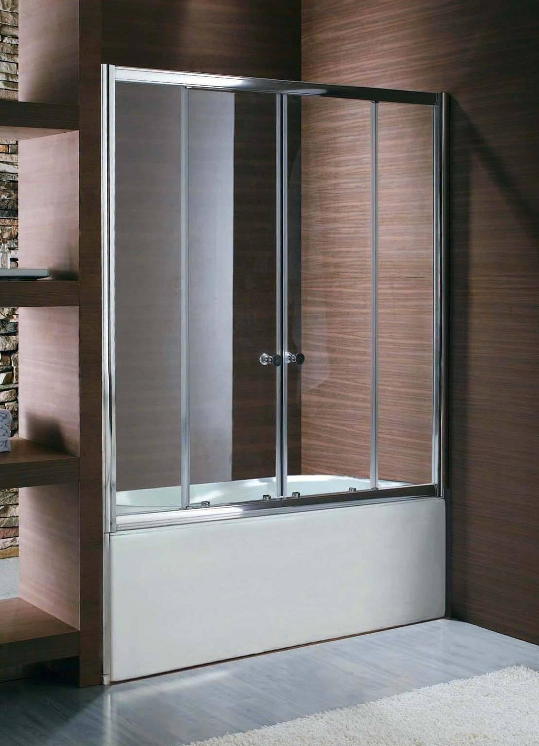 Раздвижные шторки для ванны: стеклянные, пластиковые