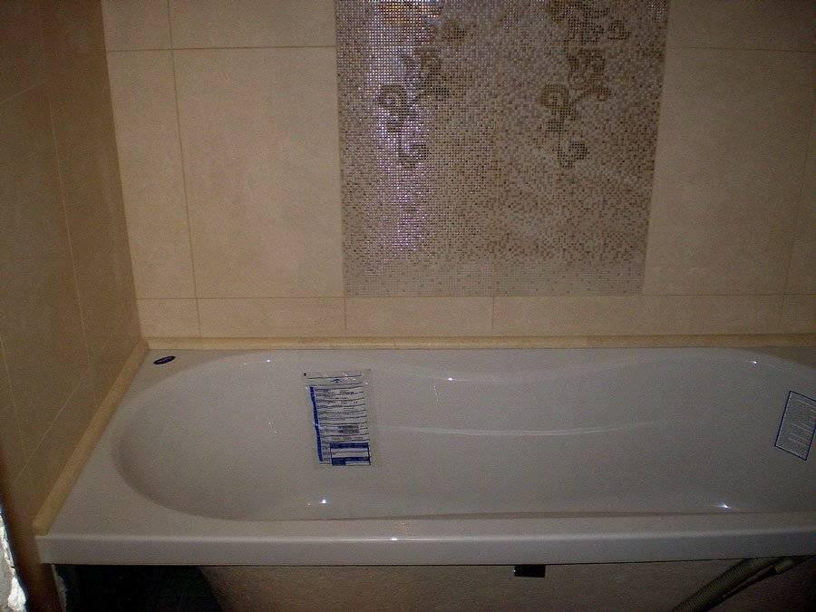Пластиковый бордюр для ванной: установка + фото