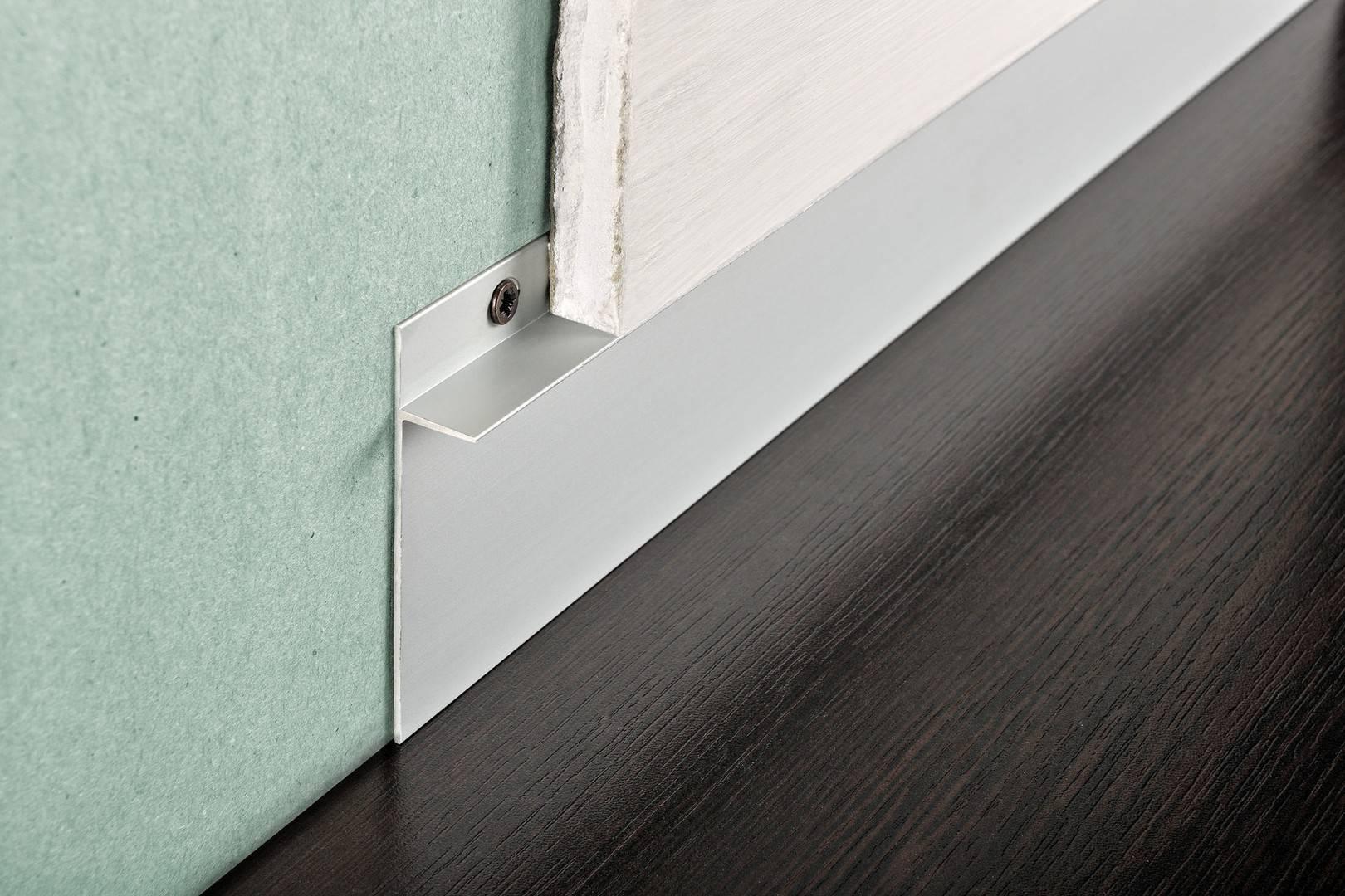 Алюминиевый плинтус: напольный, мебельный
