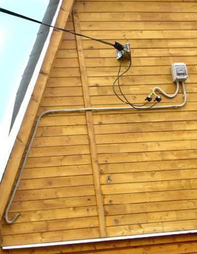 Особенности ввода электричества в деревянный дом   elesant.ru