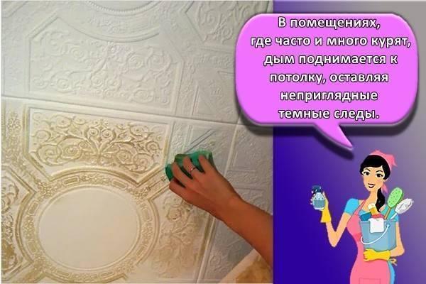 Как правильно мыть потолочную плитку на кухне от загрязнений