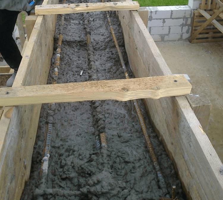 Ленточный бутобетонный фундамент - строительный журнал