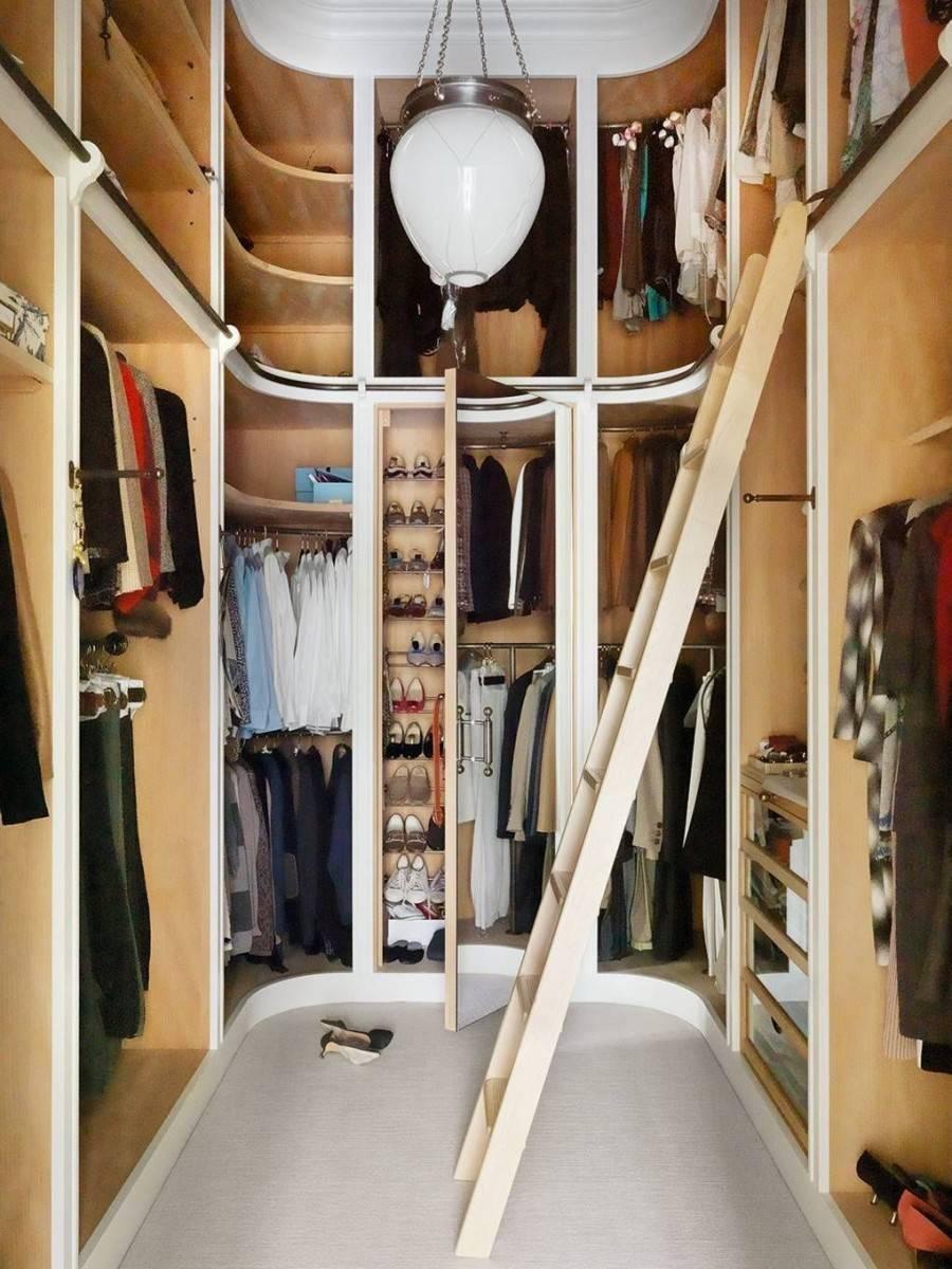 Размеры гардеробной, рекомендации по устройству мест хранения