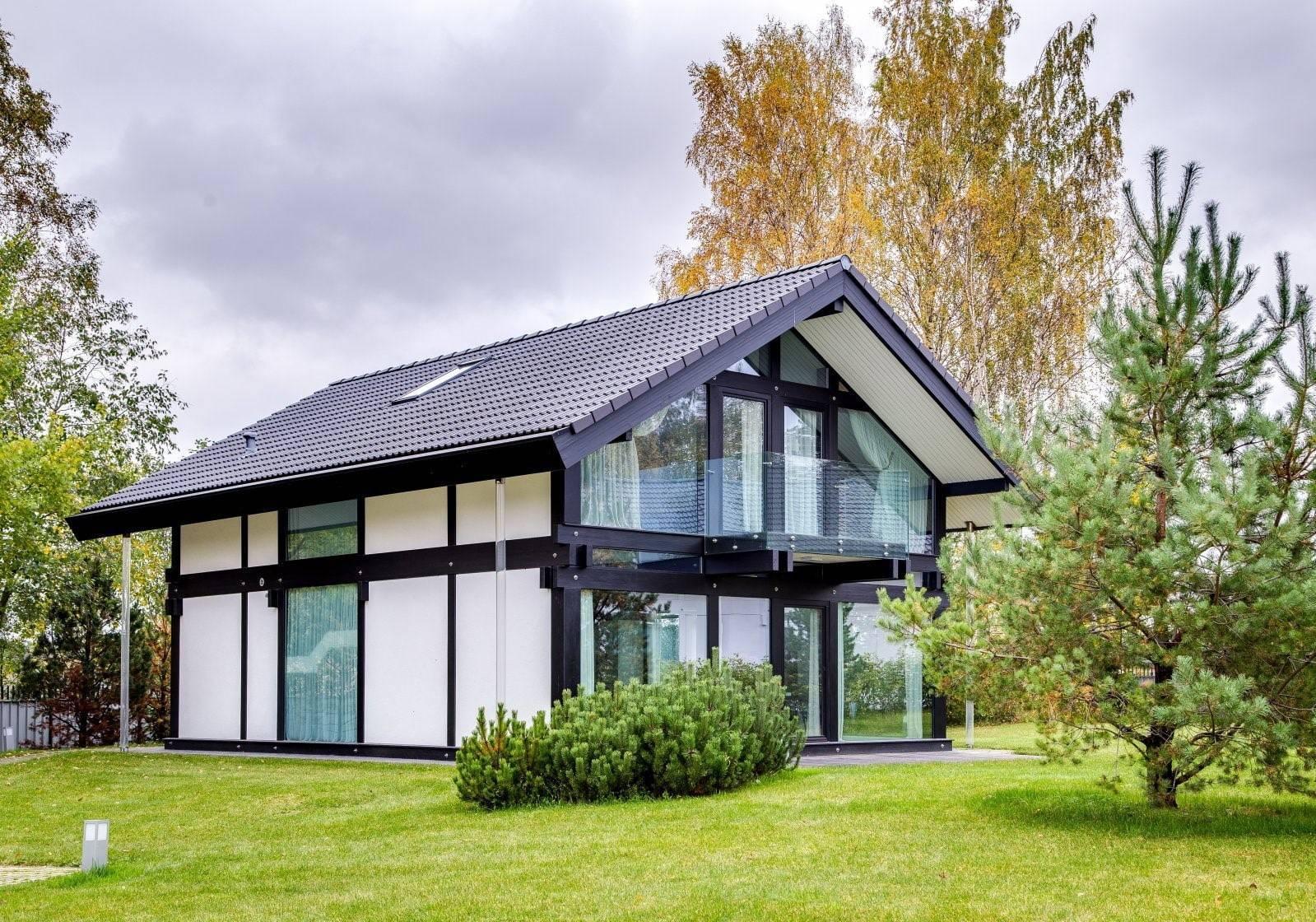 Дома в стиле фахверк - что это такое? немецкая технология строительства, фото