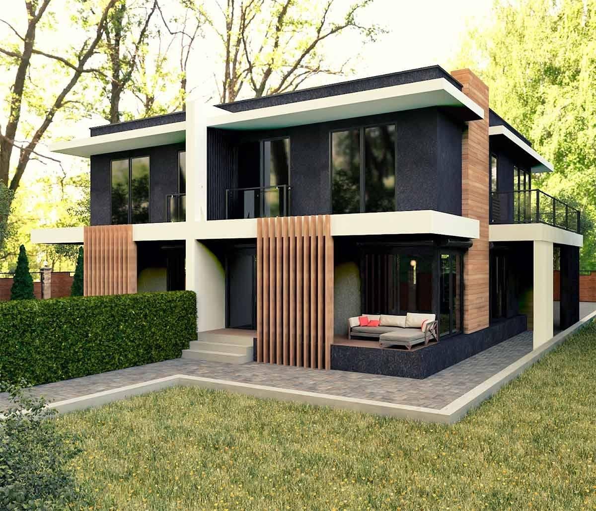 Каркасные дома в стиле хай-тек: особенности квадратных каркасников