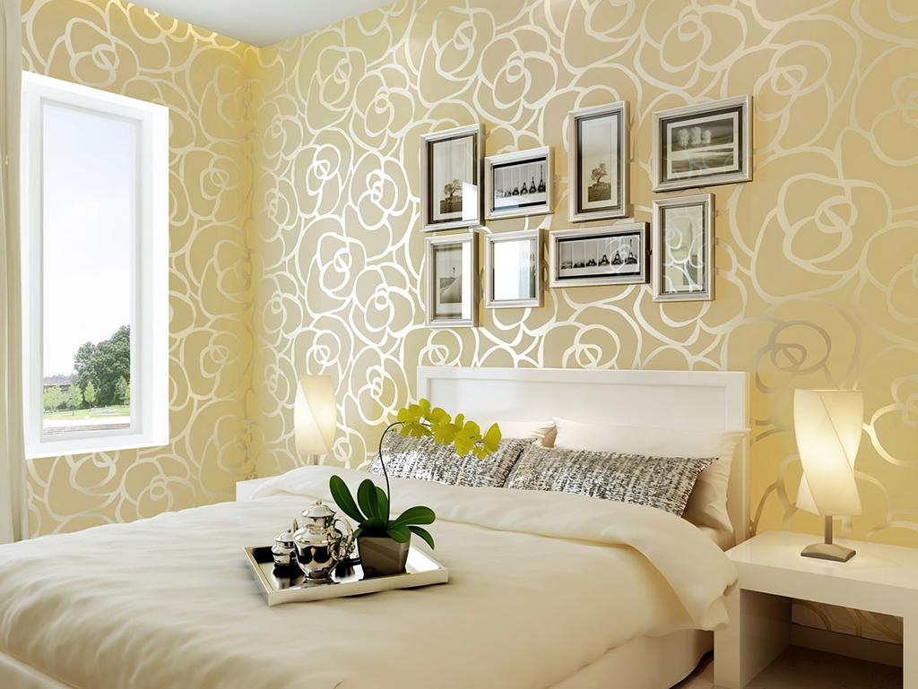 Комбинированнные обои для спальни: фото, преимущества, выбор материалов, способы поклейки