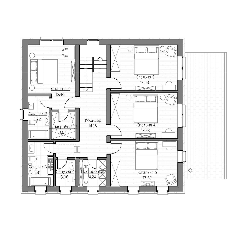 Проект одноэтажного дома с тремя спальнями: лучшие варианты для большой семьи с детьми