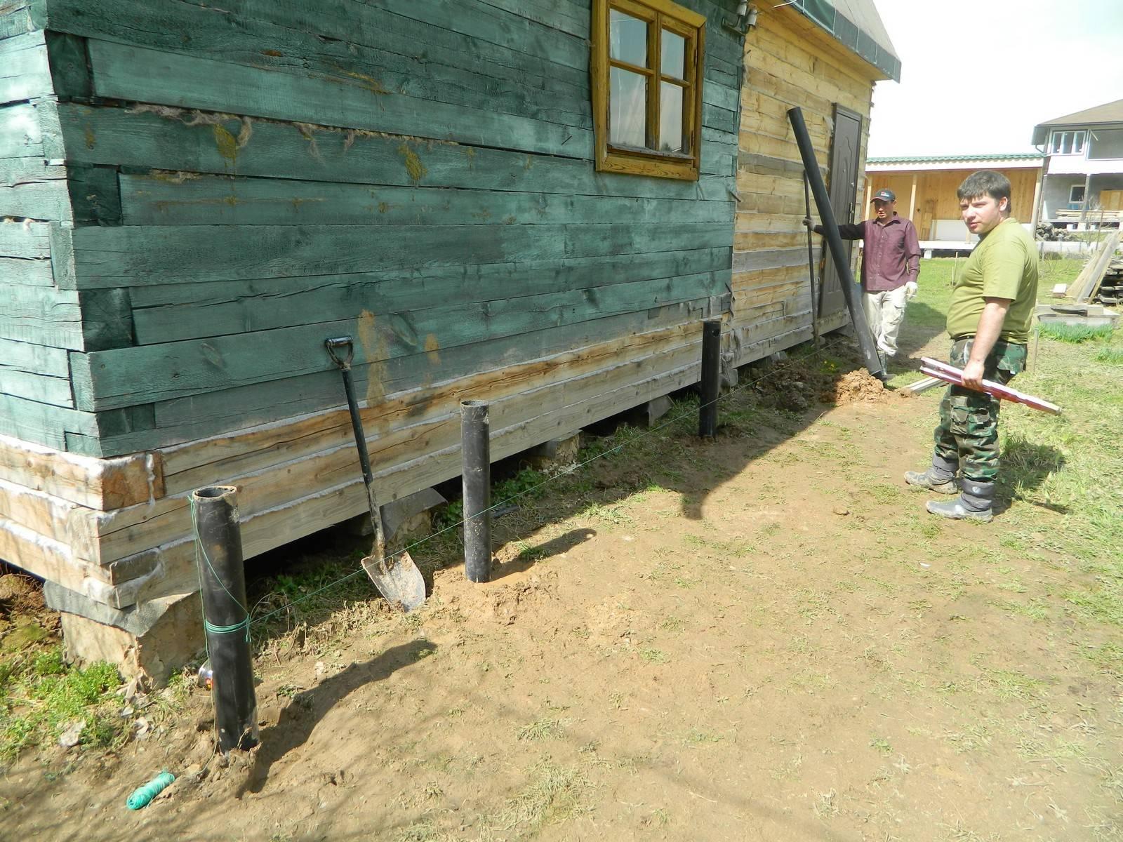 Поднять дом на фундамент: необходимые инструменты и материалы