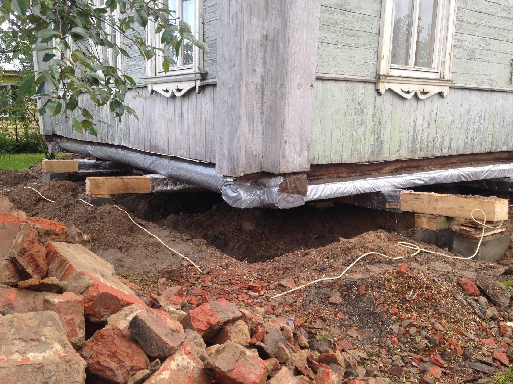 Как сделать фундамент под старый дом без фундамента — описываем по пунктам