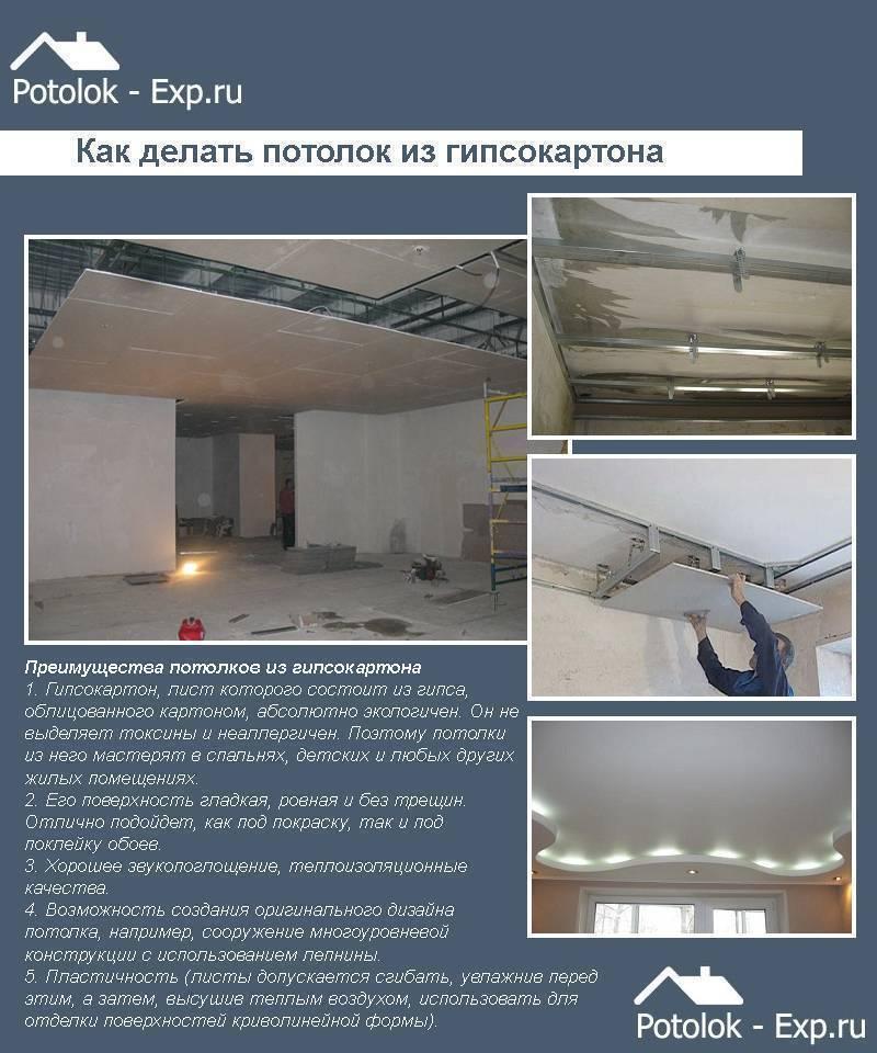 Монтаж гипсокартона на стены и потолок видео монтажа