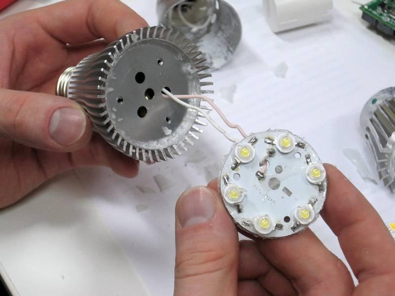 Ремонтируем светодиодную лампу на 220в своими руками