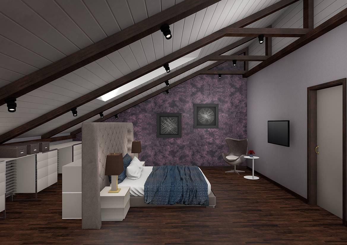 Спальня в мансарде: обустройство и дизайн