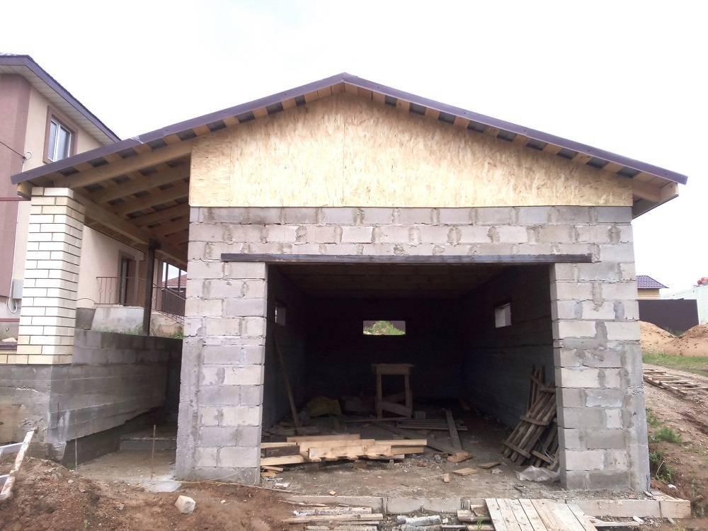 Использование пеноблоков для строительства гаража