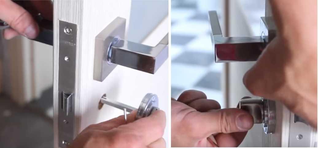 Установка дверной ручки-замка в межкомнатную дверь - rmnt - медиаплатформа миртесен