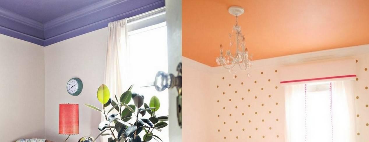 Покраска потолка на кухне: виды красок и способы покраски