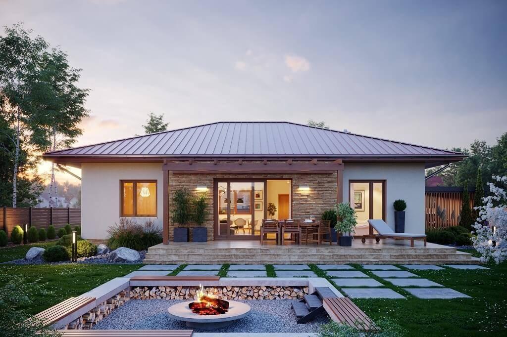 Дома фото одноэтажные: красивые проекты внутри и снаружи